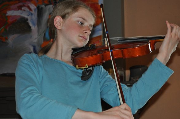 Music education at Wychwood: Practicing pieces for Poetry & Strings Evening